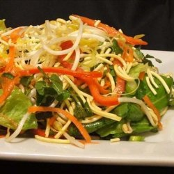 Crispy Noodle Salad With Sweet and Sour Dressing recipe