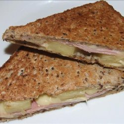 Grilled Ham and Cheese Sandwich With Pineapple