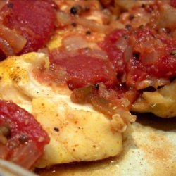 Baked King Fish/ Cod in Tomato sauce