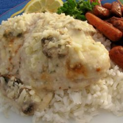 Lemon Pepper-Tarragon Chicken With Sour Cream, Mushroom and Wine