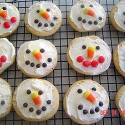 Snowman Sugar Cookies With Frosting