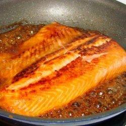 Salmon With Bourbon and Brown Sugar Glaze