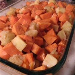 Carameled Apple Sweet Potatoes