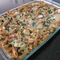 Chicken and Spinach Pasta Casserole