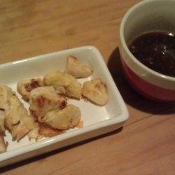 Battered Chicken Tapas With Honey and Mustard  ( Pollo Rebozado)