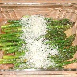 Balsamic Roasted Asparagus With Fleur De Sel and Parmesan