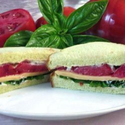 Tomato, Basil, & American Cheese Sandwich