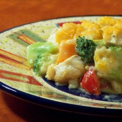 Chicken, Rice, Broccoli & Cheese Casserole