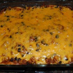 Mexican Ground Beef Tortilla Layer Casserole