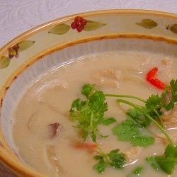 Spicy Chicken Soup With Hints of Lemongrass and Coconut Milk