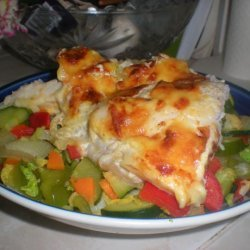 Cheesy Baked Fillet of Fish Casserole